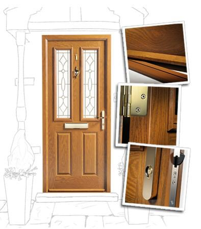 Wood Effect and Coloured Composite Door Installers Newcastle  sc 1 st  Dave Kendall Ltd Doors Windows Double Glazing Newcastle ... & Wood effect and coloured composite door installers Newcastle upon Tyne