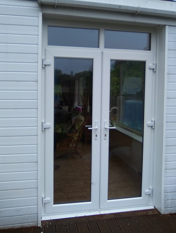 Rehau door new from rehau shaker style cabinet doors for Replacement french doors