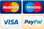 Pay for your glazing with Visa, Maestro or Mastercard, powered by Paypal