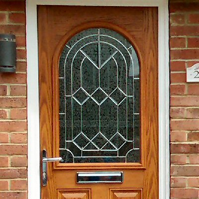 Oak effect composite door from Newcastle Glaziers